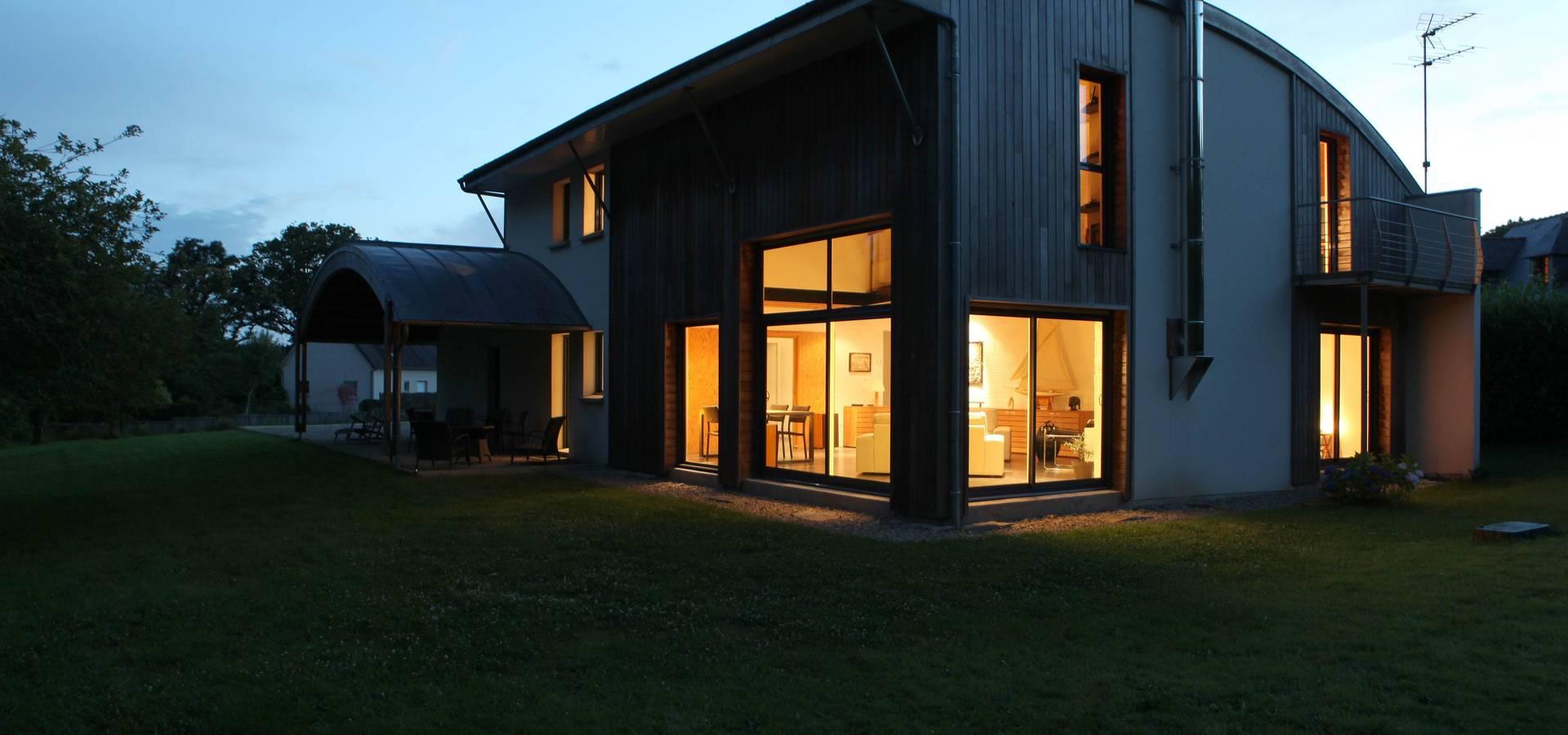 une maison bioclimatique au coeur du pays vannetais par patrice bideau architecte homify. Black Bedroom Furniture Sets. Home Design Ideas
