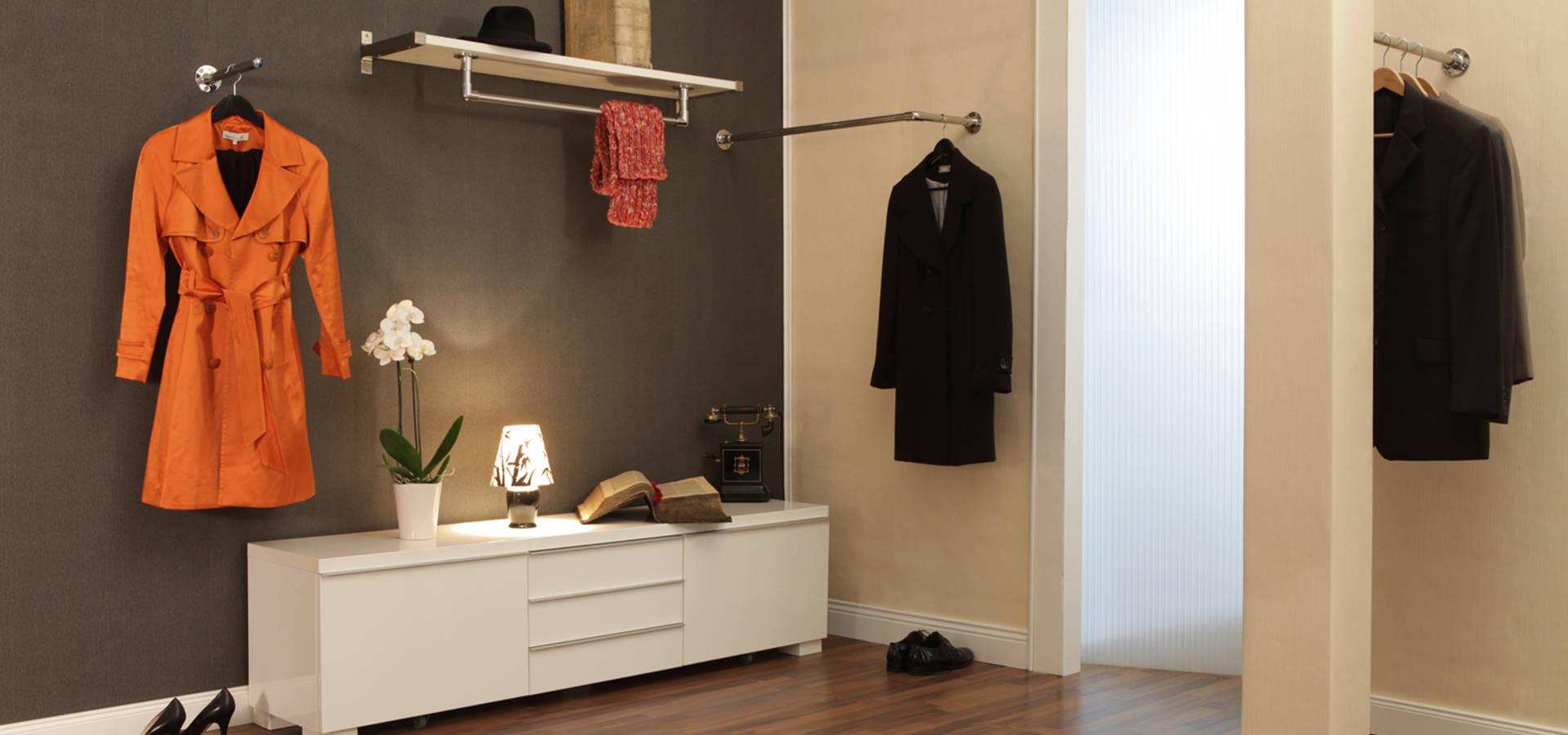 Garderobenstangen f r flur ankleidezimmer oder for Flur garderoben modern