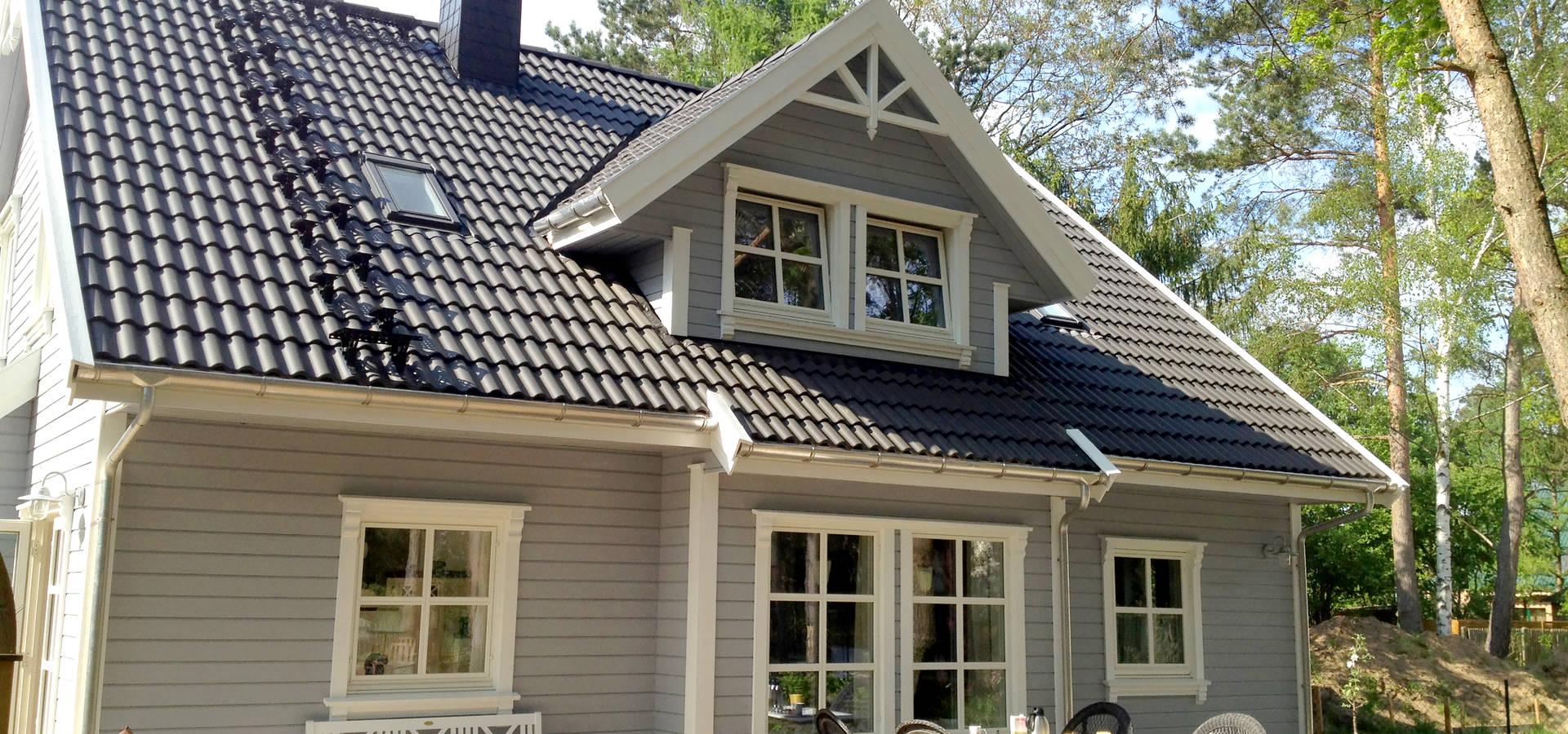 norwegisches holzhaus typ arne 100 von akost gmbh ihr traumhaus aus norwegen homify. Black Bedroom Furniture Sets. Home Design Ideas