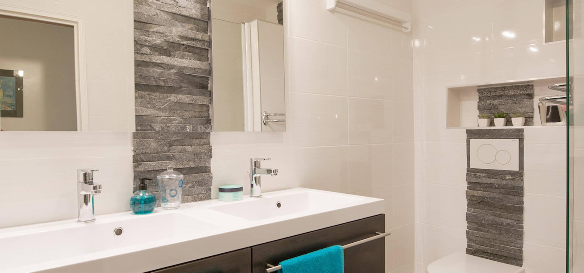 une salle de bains l 39 ambiance masculine par am by annie mazuy homify. Black Bedroom Furniture Sets. Home Design Ideas