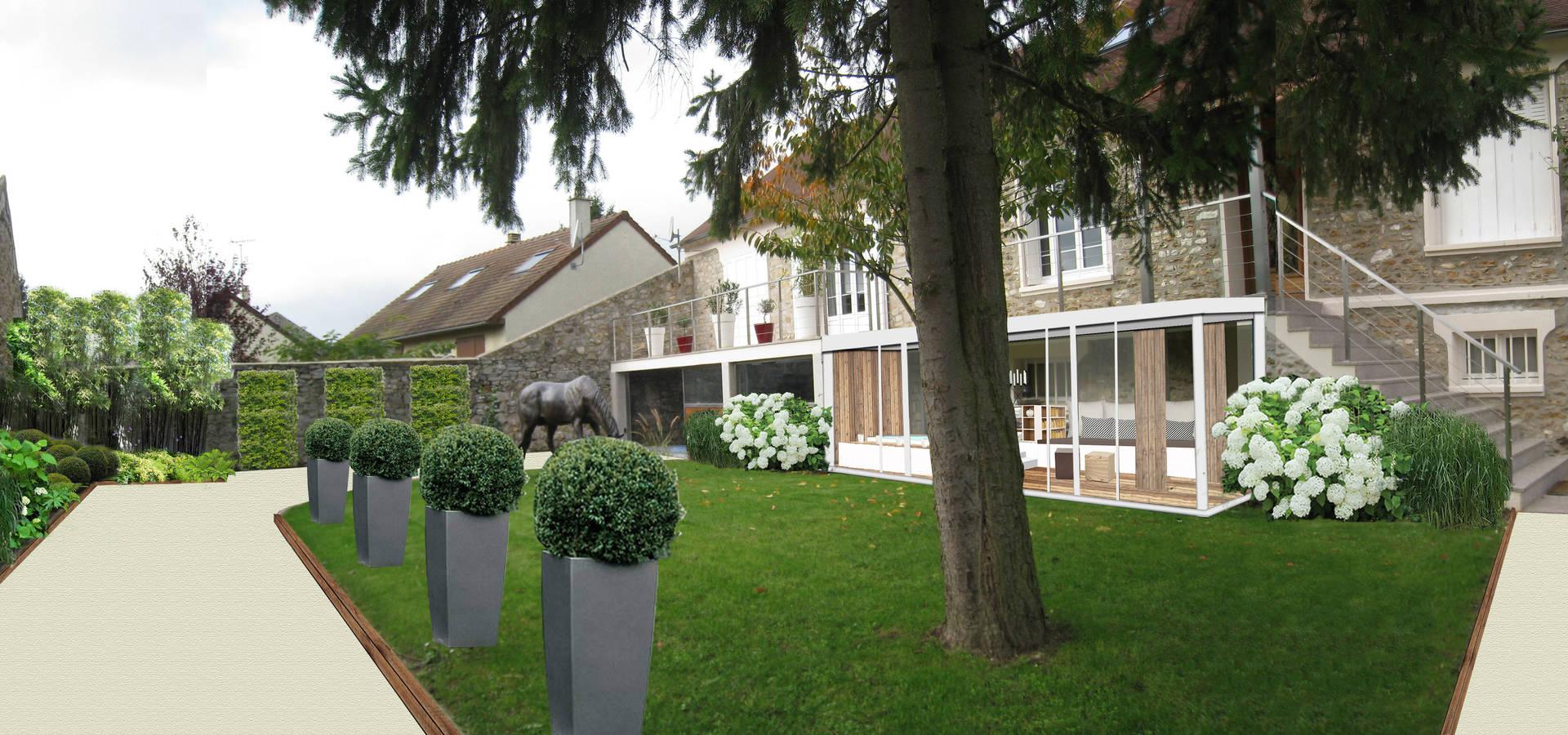 Jardin de campagne en essonne 91 de sophie coulon for Paysagiste essonne