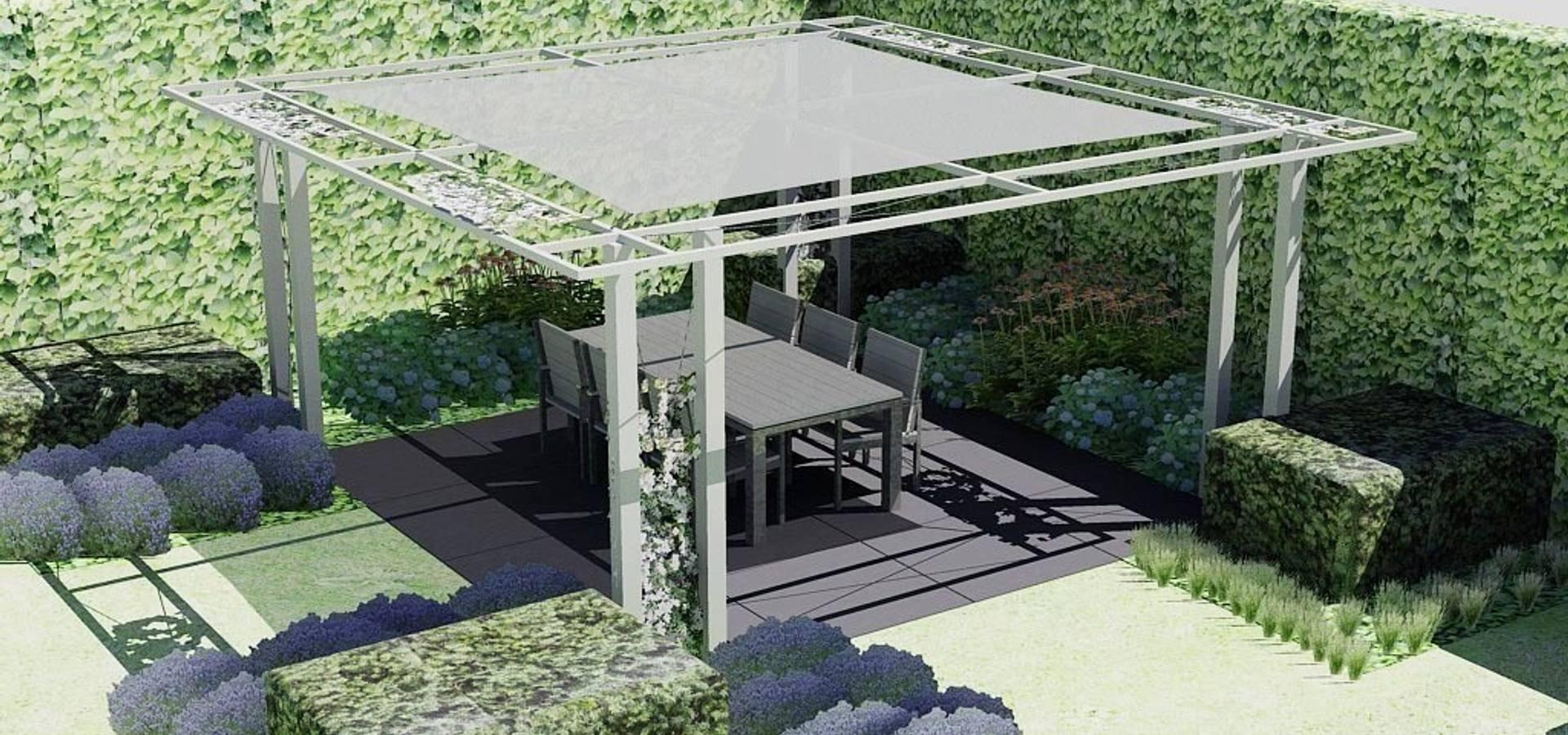 Bladgoud tuinen terrassen patio 39 s overkappingen in heeten homify - Foto pergola ijzer smeden ...