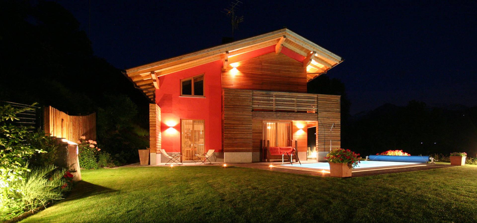 Villa a la thuile ao con serra solare e b b ipogeo di for Homify case