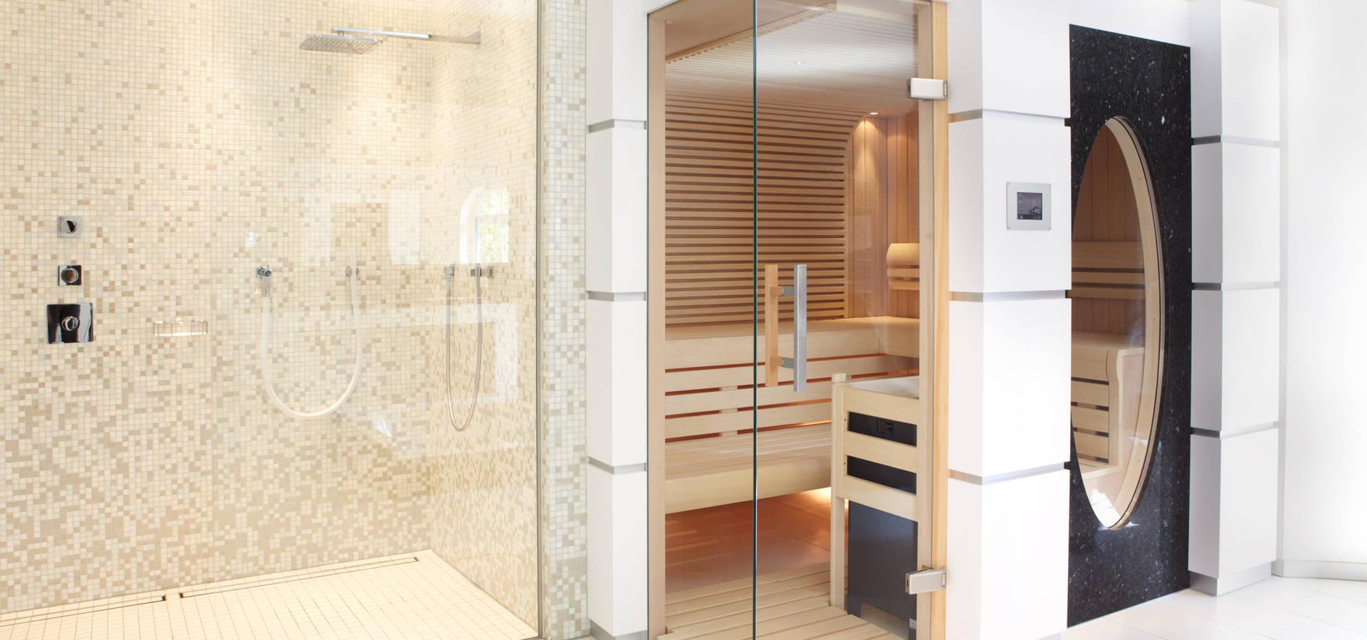 wellness oase mit sauna in einer dachschr ge von erdmann exklusive saunen homify. Black Bedroom Furniture Sets. Home Design Ideas