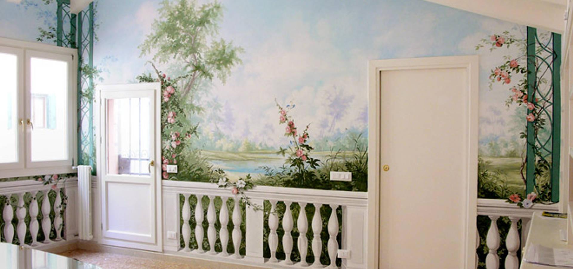 Decori per pareti di erica de rosa dipinti affreschi trompe l 39 oeil decorazioni venezia - Decorazioni sui muri ...