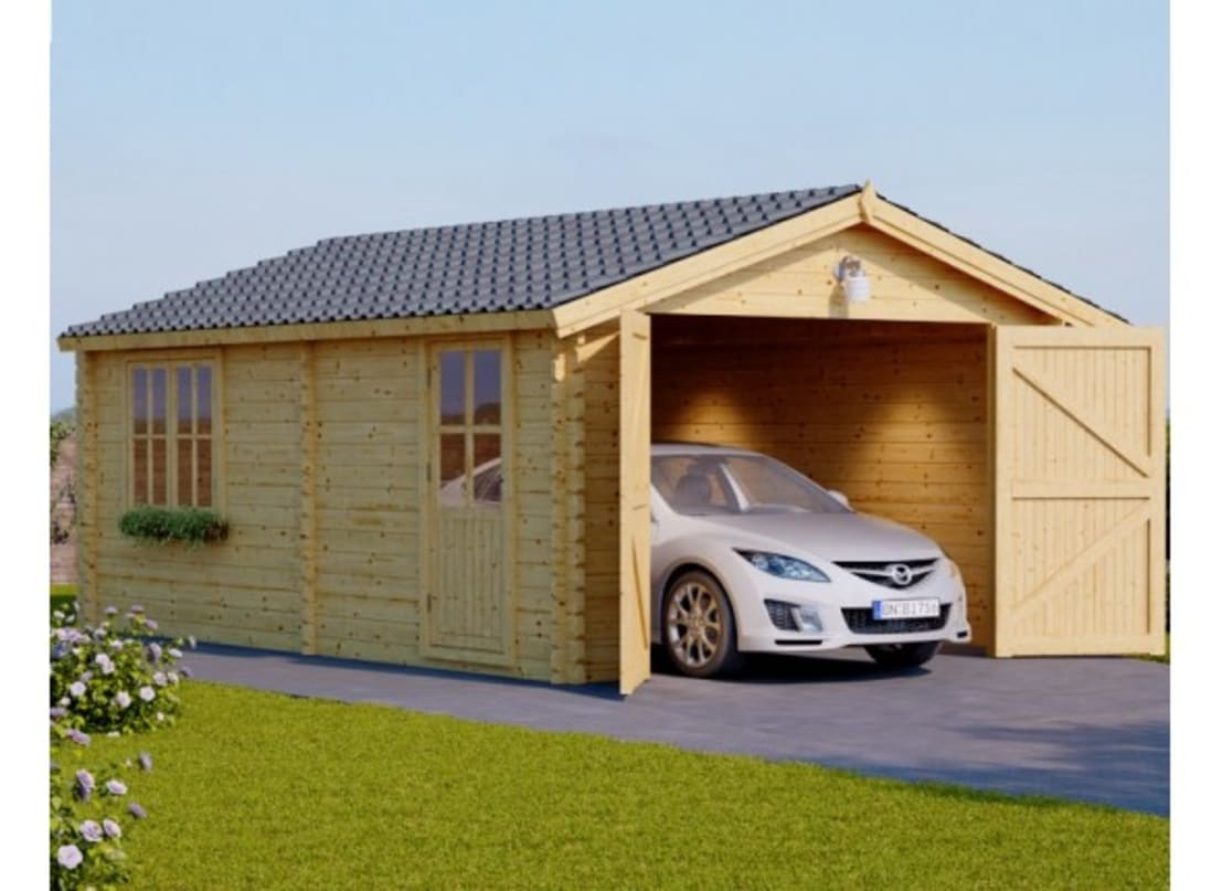 Pineca group holzgaragen homify for Auto p garage roussillon
