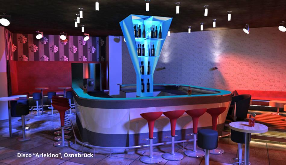 disco arlekino osnabr ck by gid goldmann interior. Black Bedroom Furniture Sets. Home Design Ideas