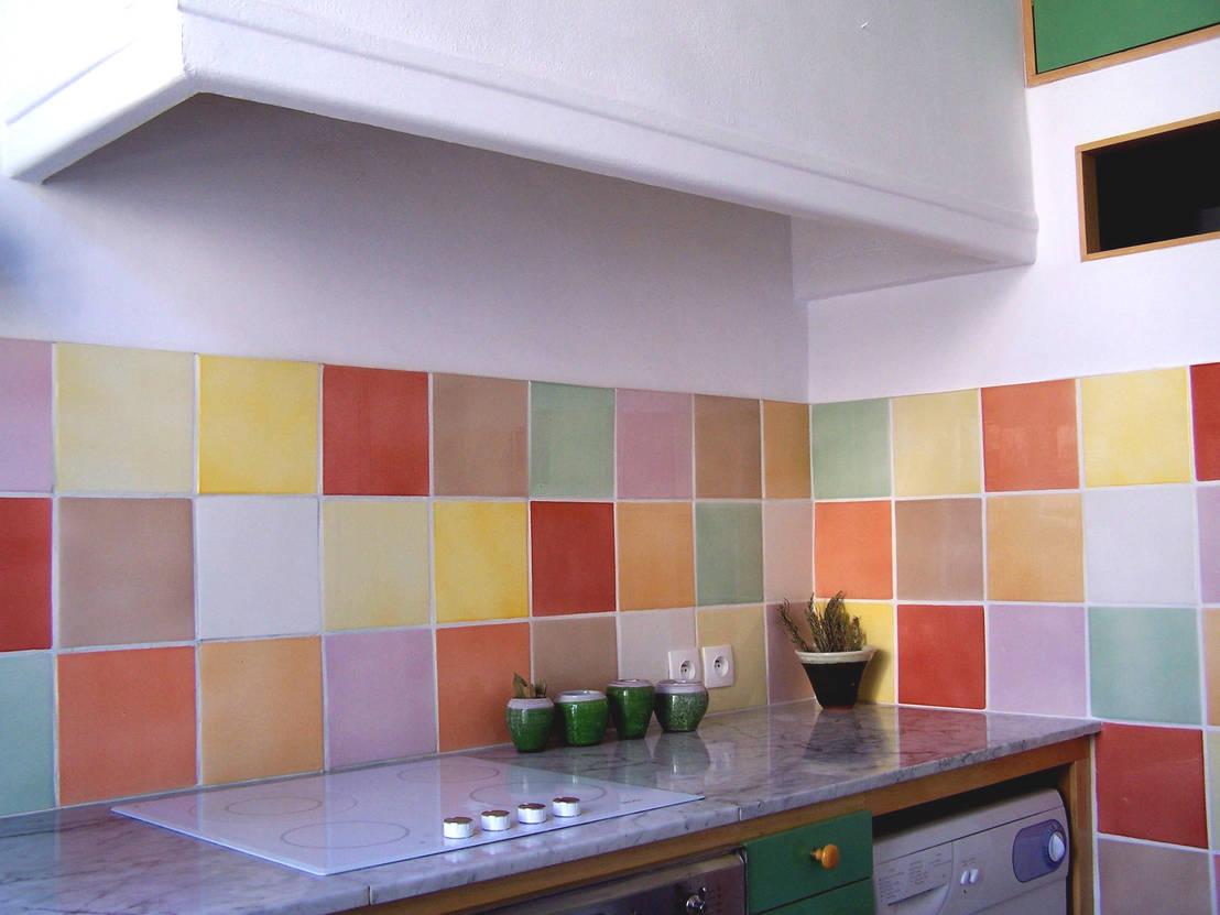 10 idee creative per la parete della cucina for Ver ceramicos para cocina