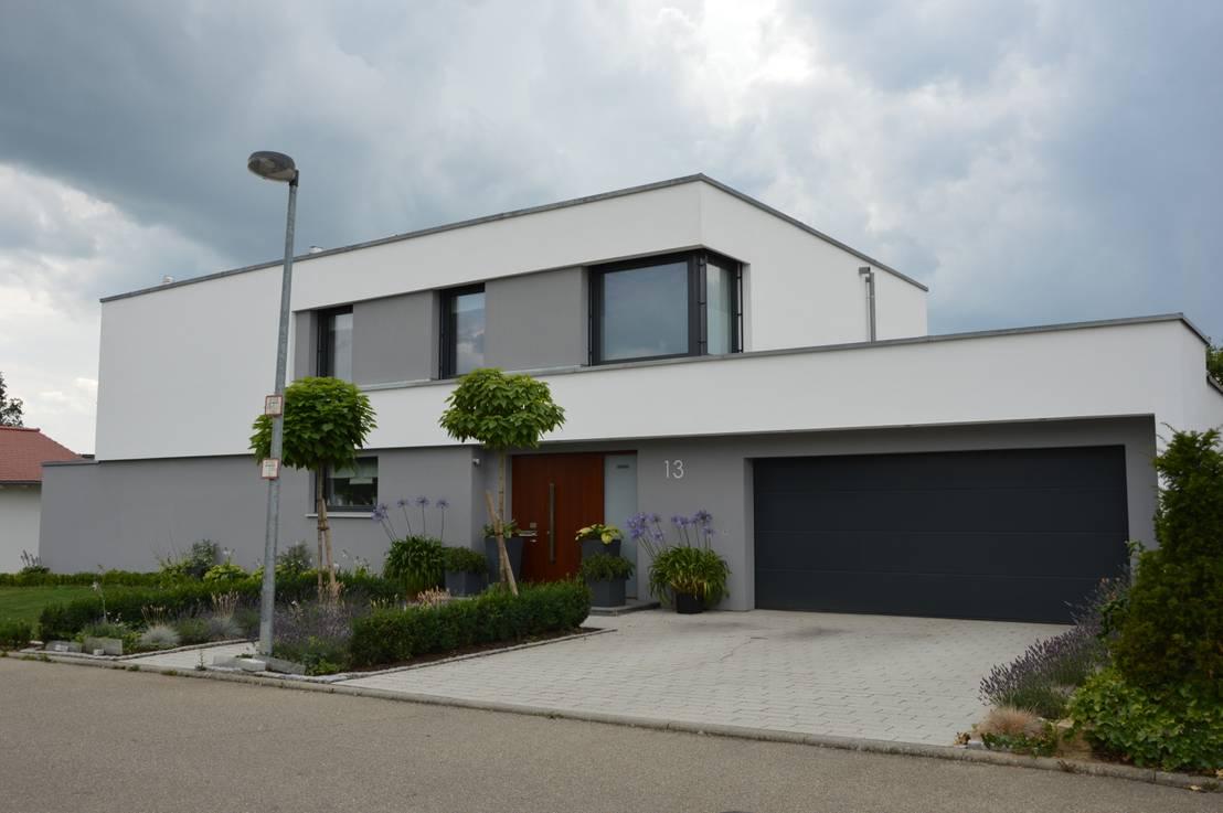 Modernes understatement for Flachdachhaus modern