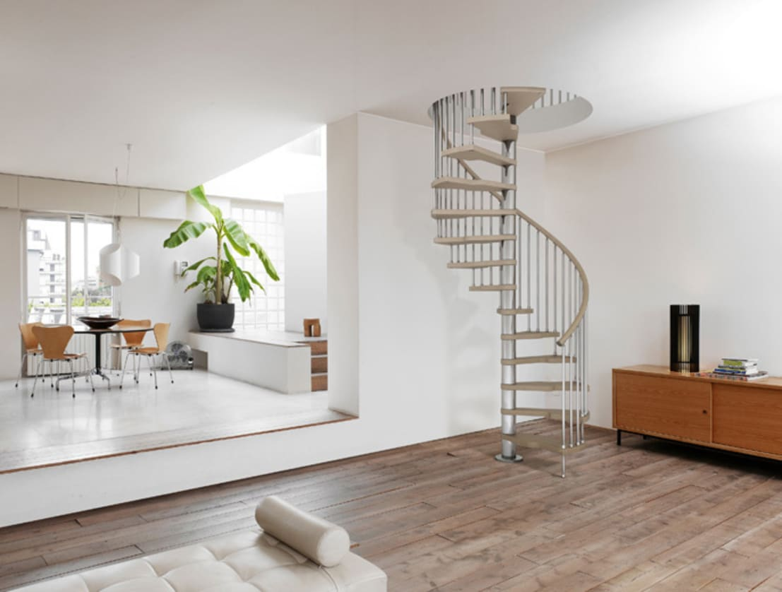 stylish stairs for small spaces. Black Bedroom Furniture Sets. Home Design Ideas