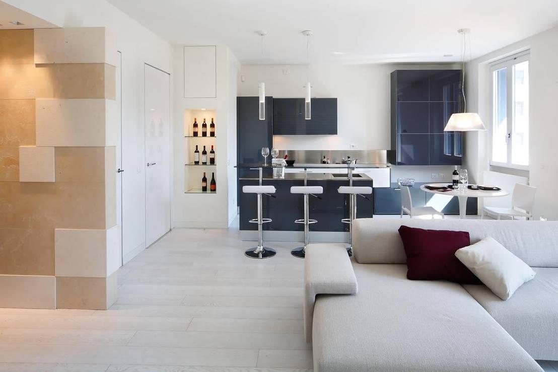 Dialogo perfetto tra cucina e soggiorno: 5 ambienti da copiare