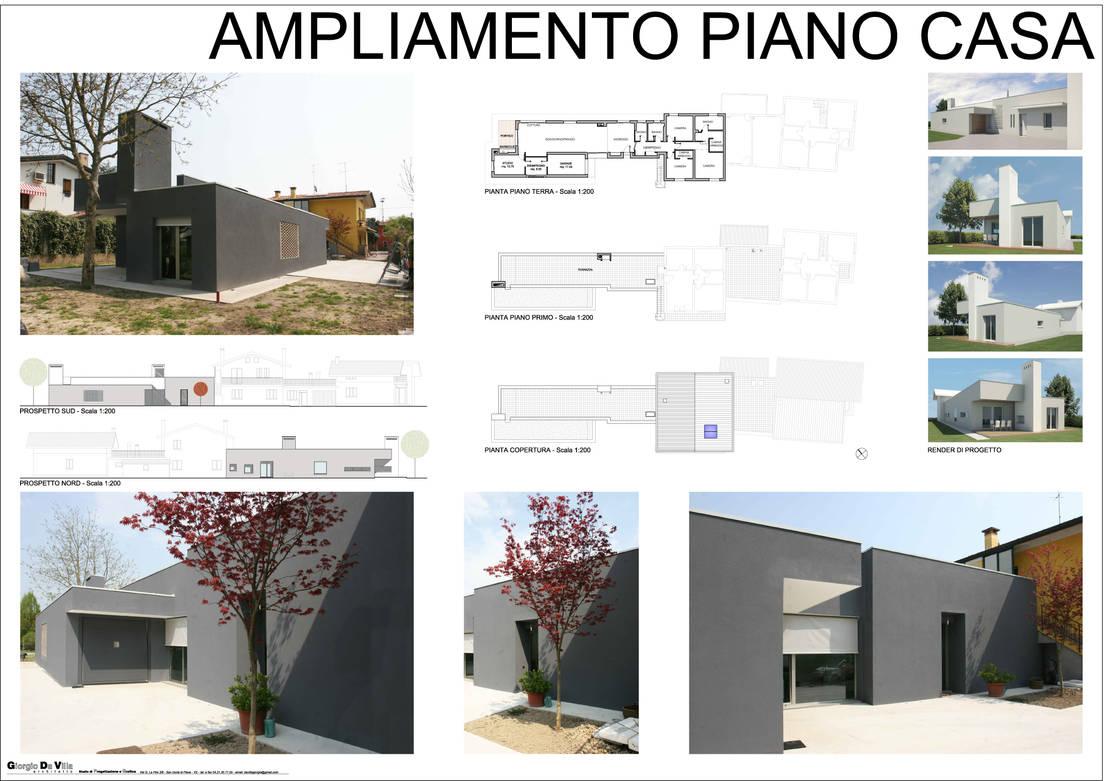 Ampliamento piano casa de studio di progettazione e for Casa piano cotizacion