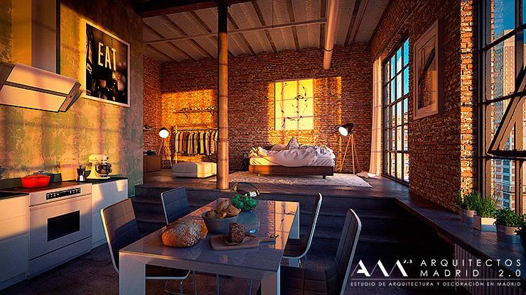 Reforma de loft en madrid de arquitectos madrid 2 0 homify for Oficina qualitas auto madrid