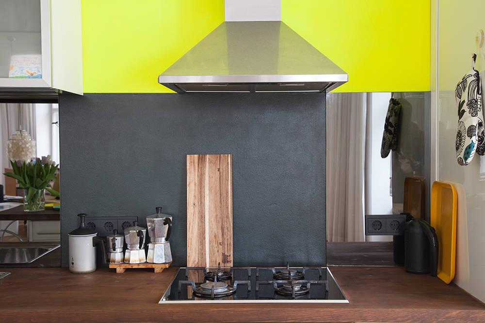 gelbe k che por berlin interior design homify. Black Bedroom Furniture Sets. Home Design Ideas