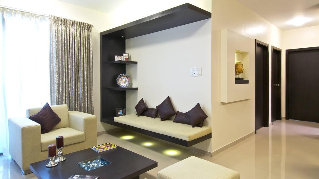 13 repisas flotantes y modernas para hacerlas en tu casa ya Flats interior design pictures india
