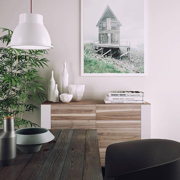 moderne wohnung in grau. Black Bedroom Furniture Sets. Home Design Ideas