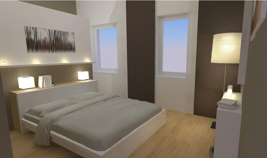 schlafzimmer wohnung p betthaupt als raumteiler von. Black Bedroom Furniture Sets. Home Design Ideas