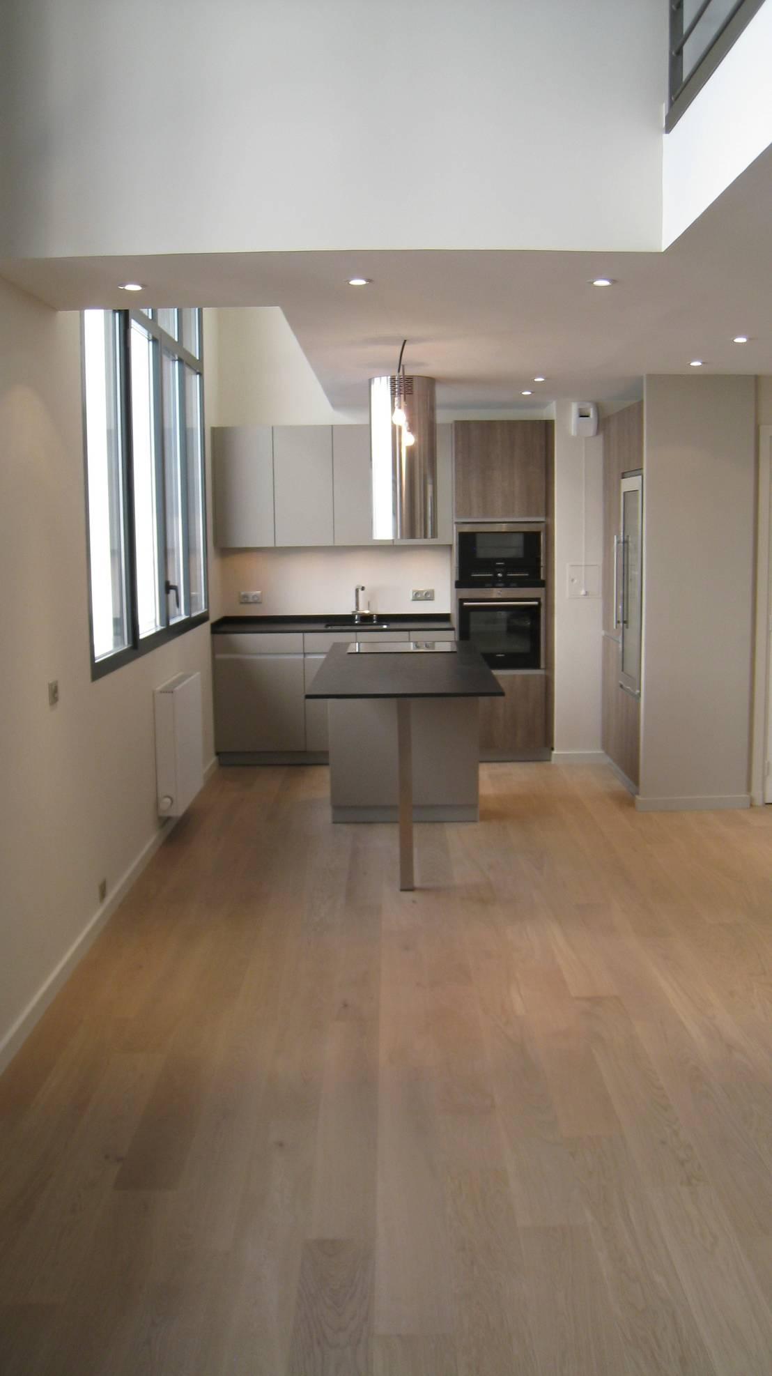 appartement loft paris par philippe ponceblanc architecte d 39 int rieur homify. Black Bedroom Furniture Sets. Home Design Ideas