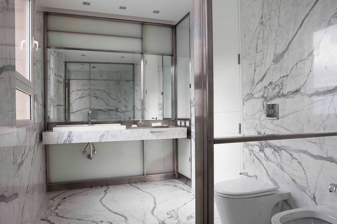 Revestimientos para el piso del ba o c mo elegir mejor - Revestimientos para paredes de banos ...