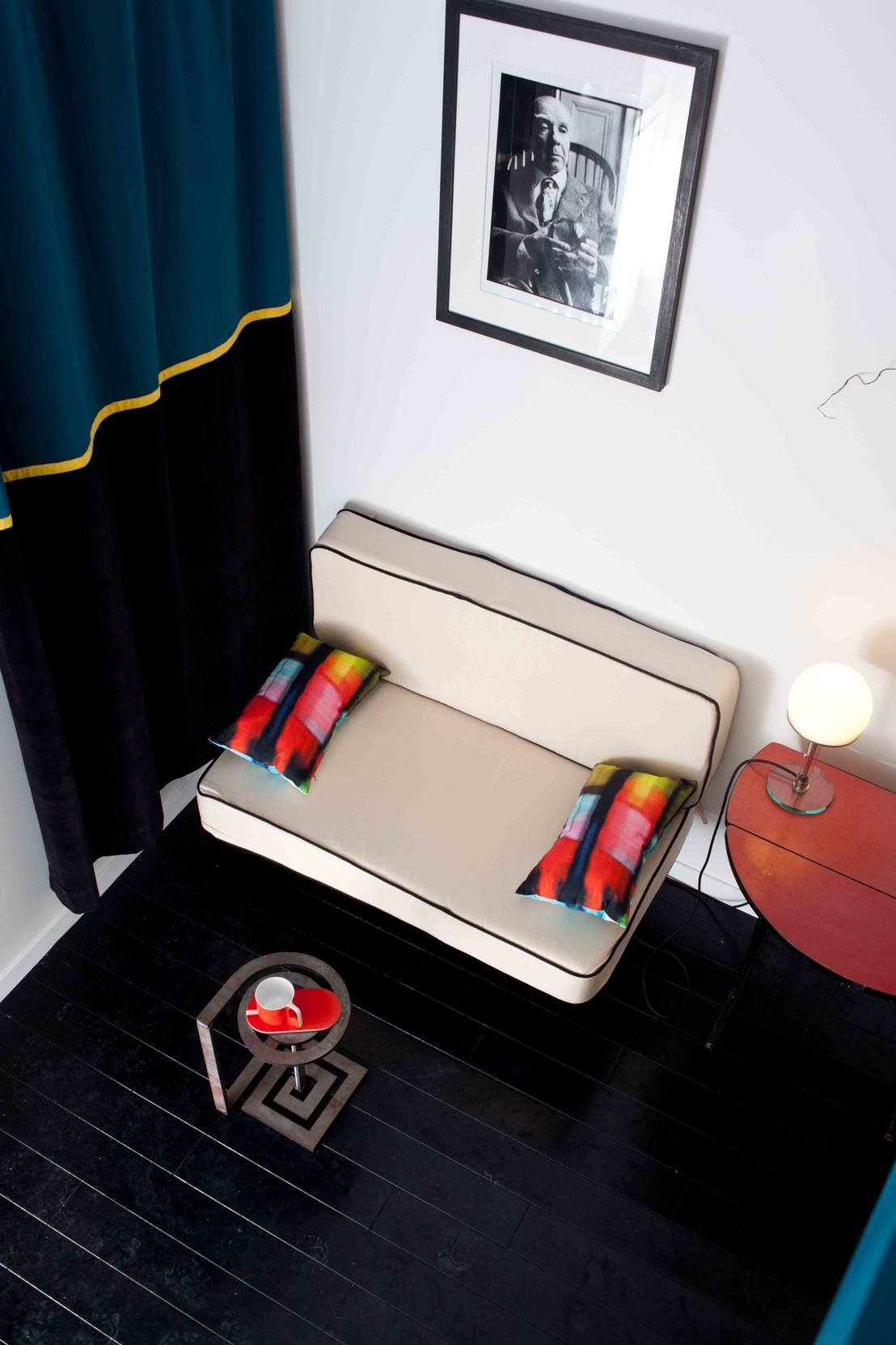 estelle griffe mini appart pour maxi place homify. Black Bedroom Furniture Sets. Home Design Ideas
