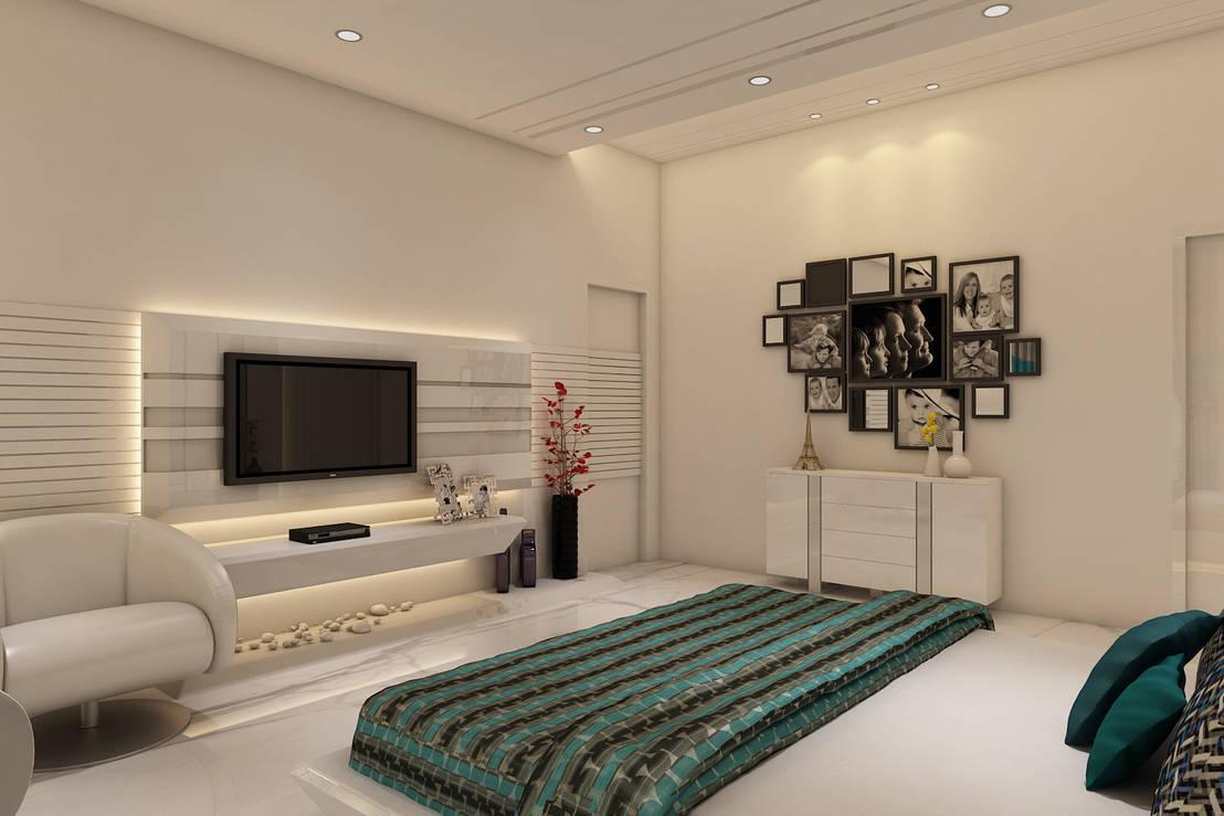 Master bedroom by k mewada interior designer homify - Masters in interior design online ...
