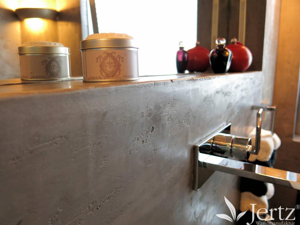 badezimmer ohne fliesen mit marmorputz in travertinoptik von wandmanufaktur homify. Black Bedroom Furniture Sets. Home Design Ideas