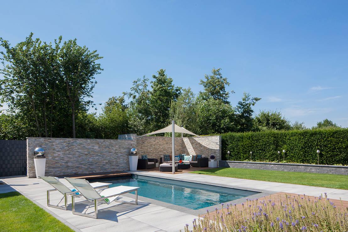 15 tuinen en terrassen m t zwembad. Black Bedroom Furniture Sets. Home Design Ideas