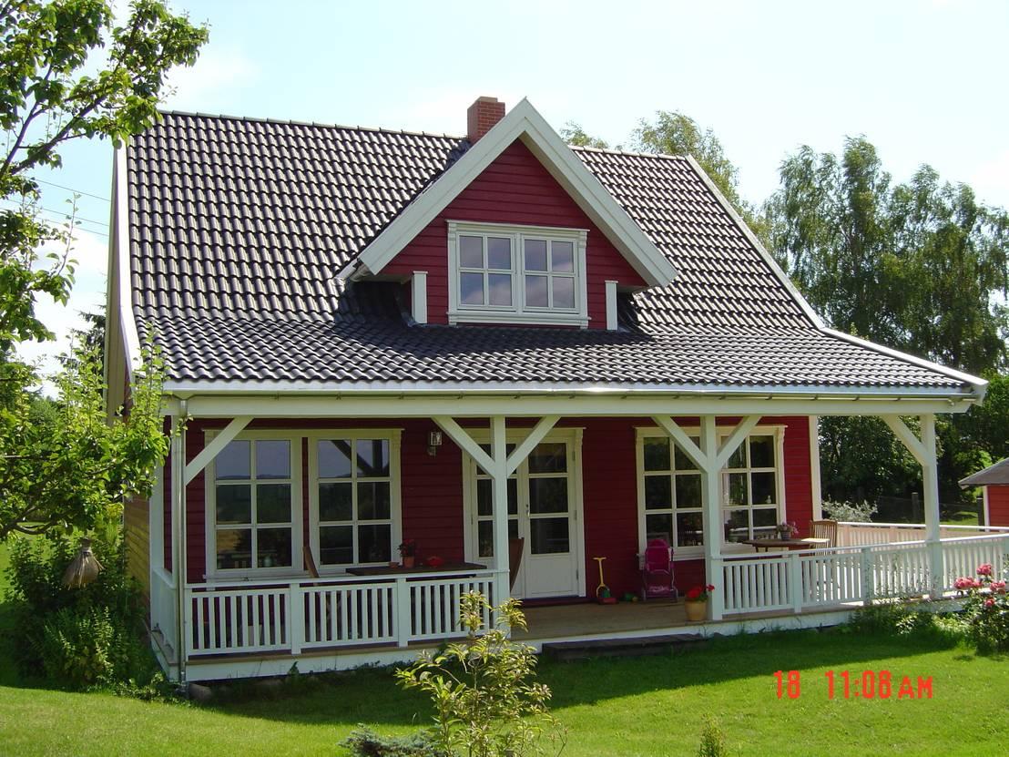 Norwegisches holzhaus typ arne 100 von akost gmbh ihr for Muster einfamilienhaus