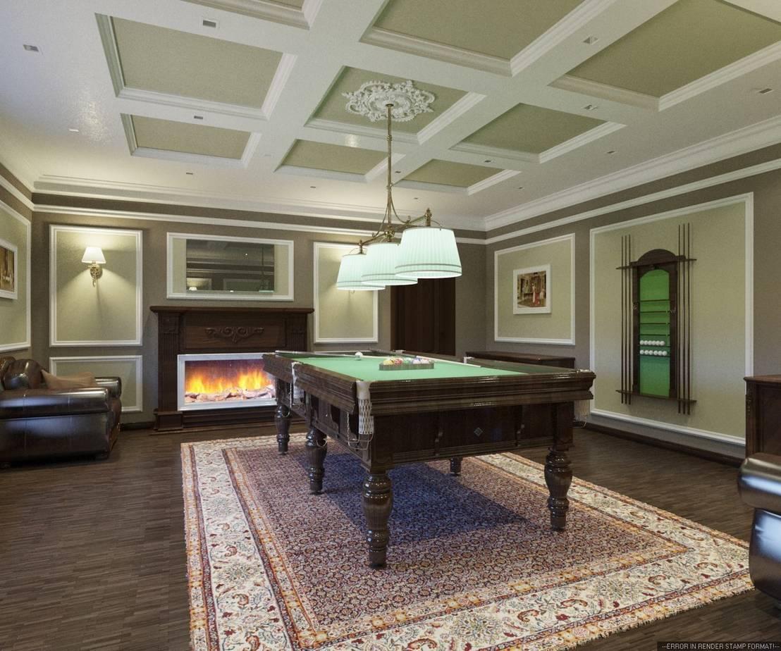 бильярдная комната дизайн фото классика скрипит