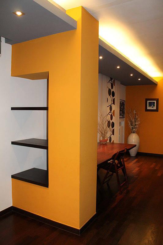 Silvia zaccaro architetto appartamento in bari il senso for Pittura soggiorno moderno