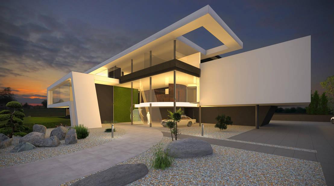 flow architektur praxisgeb ude in moderner architektur homify. Black Bedroom Furniture Sets. Home Design Ideas