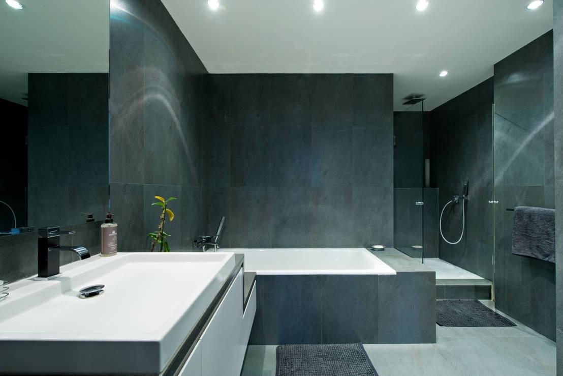 salle de bain idealbagni en ardoise et blanc cr par l 39 architecte d 39 int rieur s verine kalensky. Black Bedroom Furniture Sets. Home Design Ideas