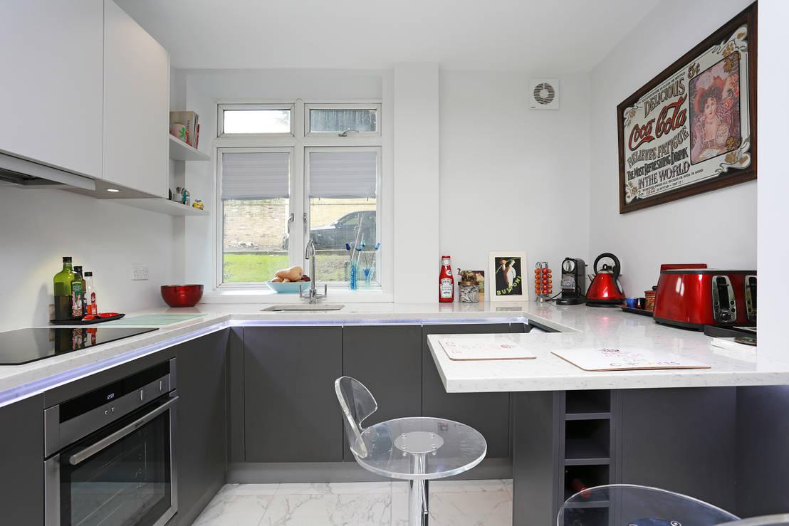 18 mini barras de cocina perfectas para casas chiquitas for Cocinas chiquitas