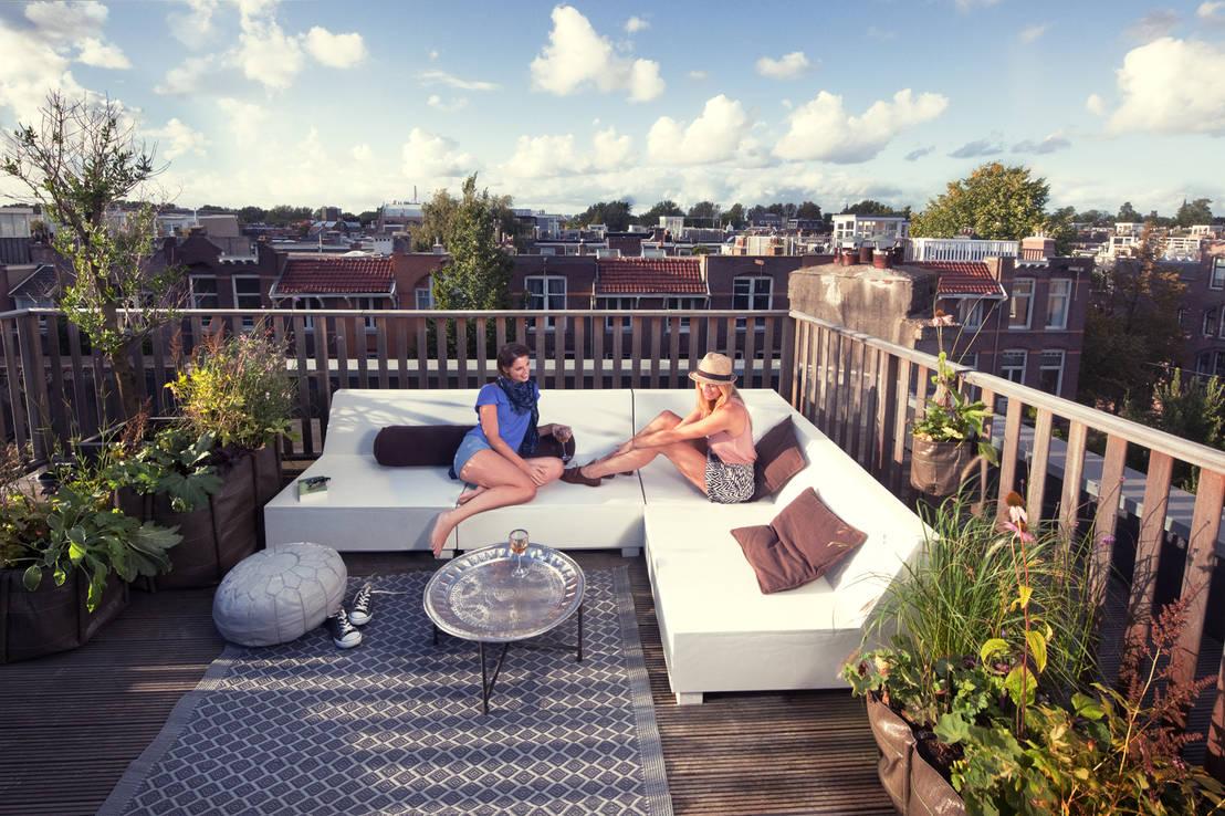 Terras met balustrade een eiken combinatie - Foto sluit een overdekt terras ...