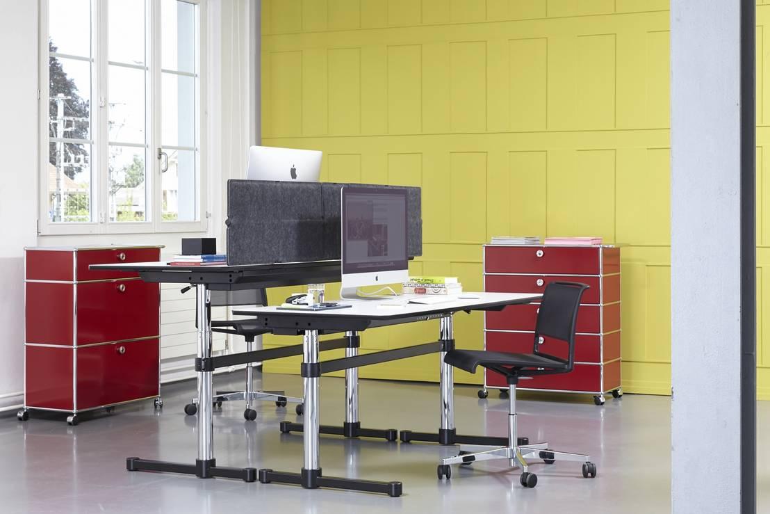 arbeiten mit usm von usm m belbausysteme homify. Black Bedroom Furniture Sets. Home Design Ideas
