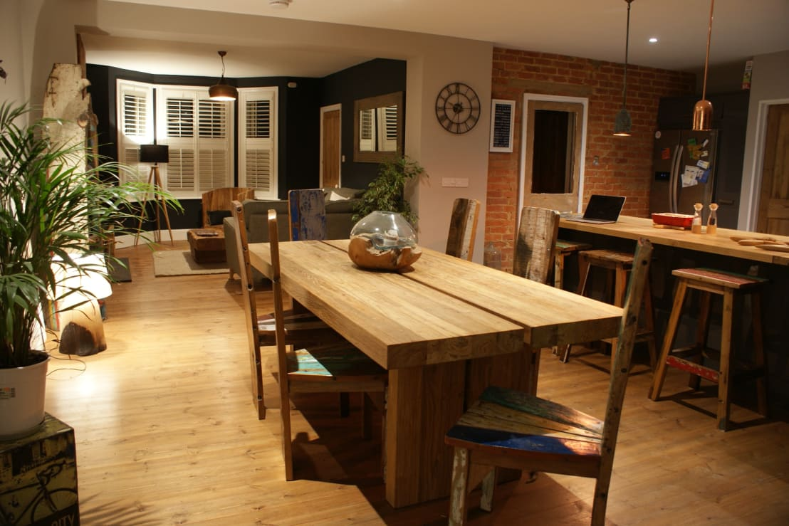 Open plan living new south coast extension by blubambu for Q significa dining room
