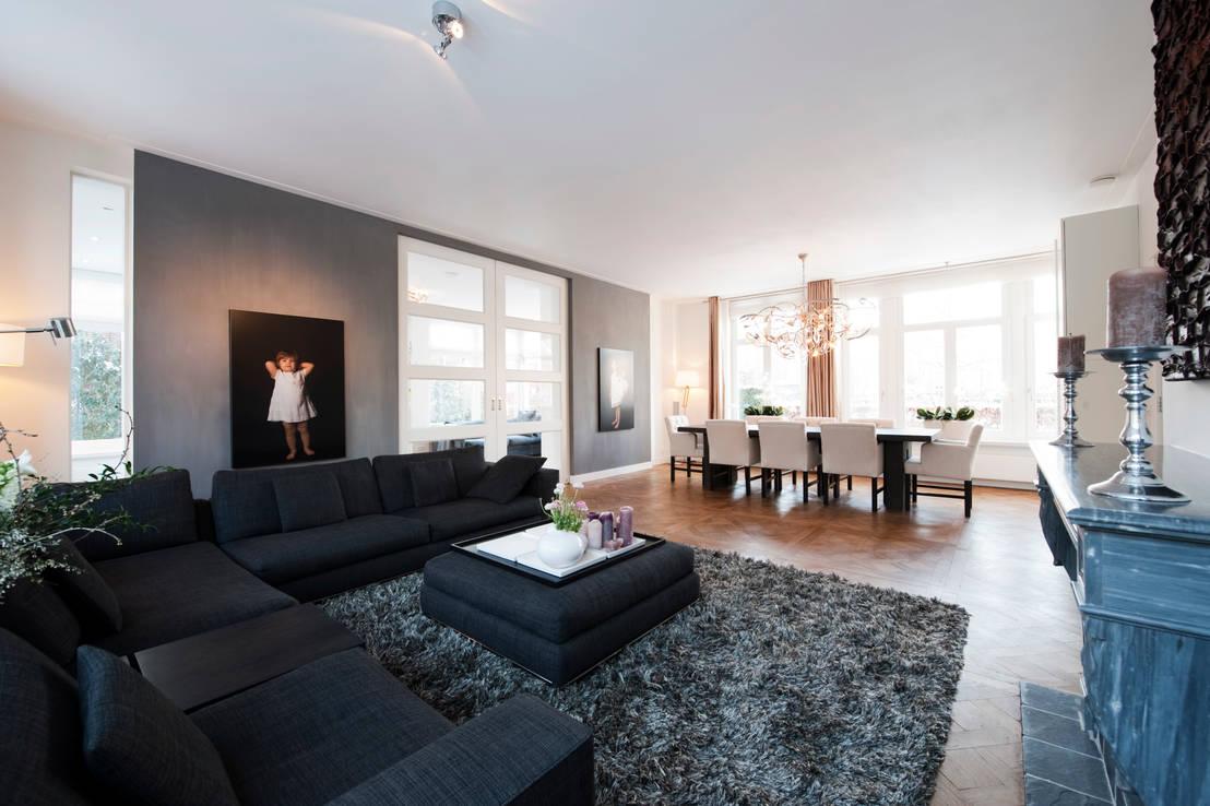 Begeleiden verbouwing interieur voorstel en levering van de meubels von mood interieur homify - Moderne keuken en woonkamer ...