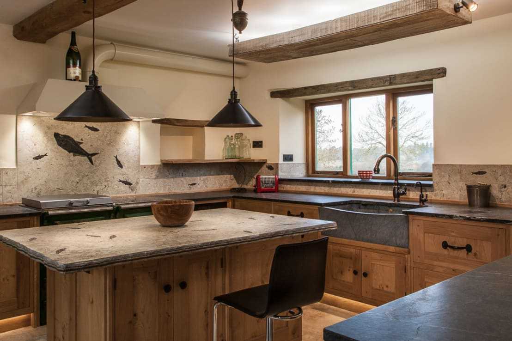 7 lavandini da cucina moderni con un tocco rustico for Piani domestici contempory