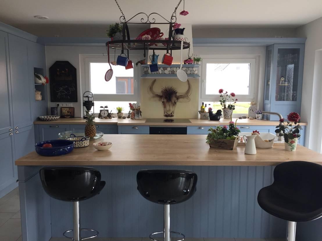 glas küchenrückwand mit motiv für landhausküche by rw lifestyle ... - Landhauskchen Mediterran
