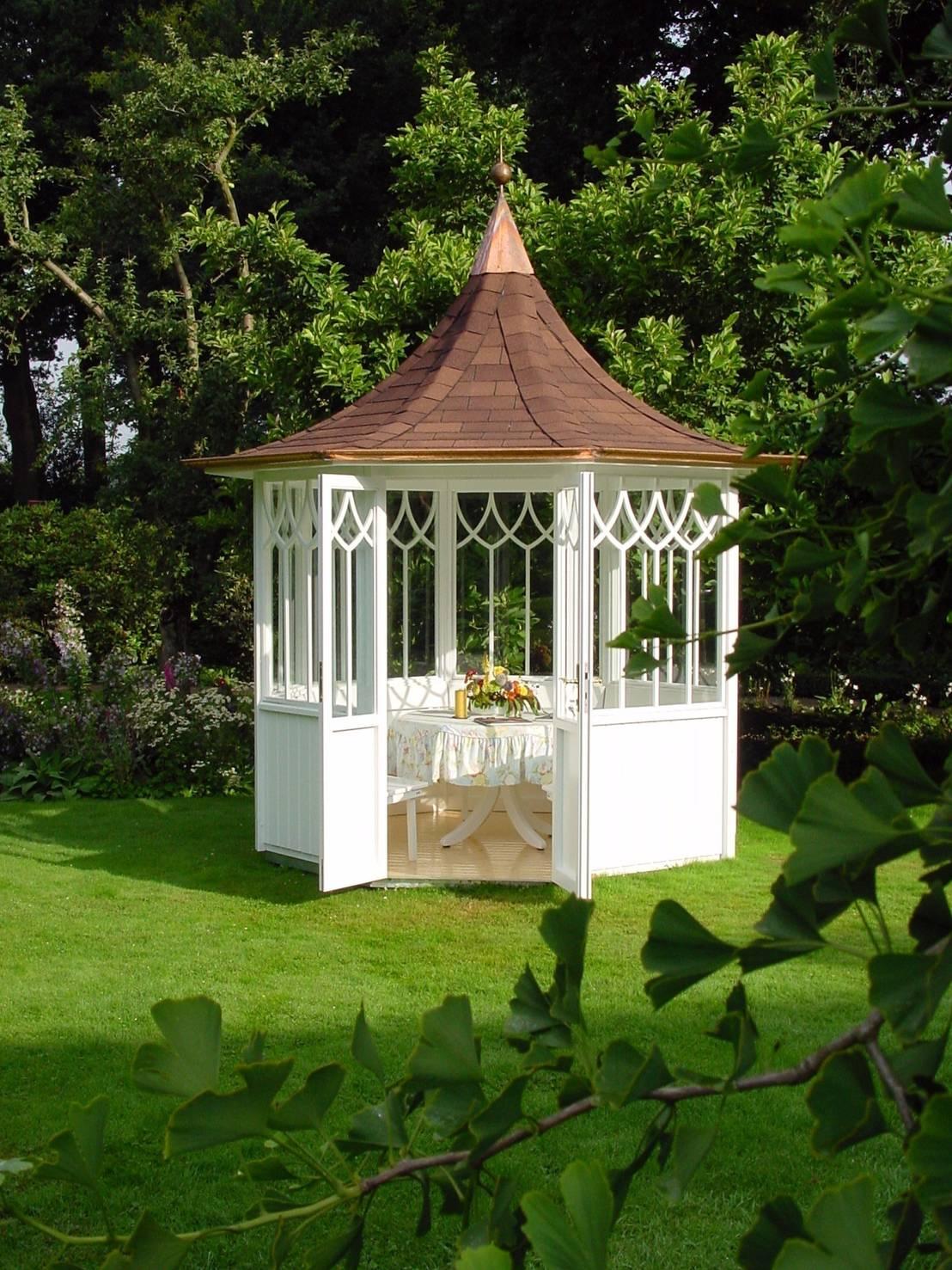 der woga gartenpavillon elegance markant und elegant von woga gartenpavillon homify. Black Bedroom Furniture Sets. Home Design Ideas