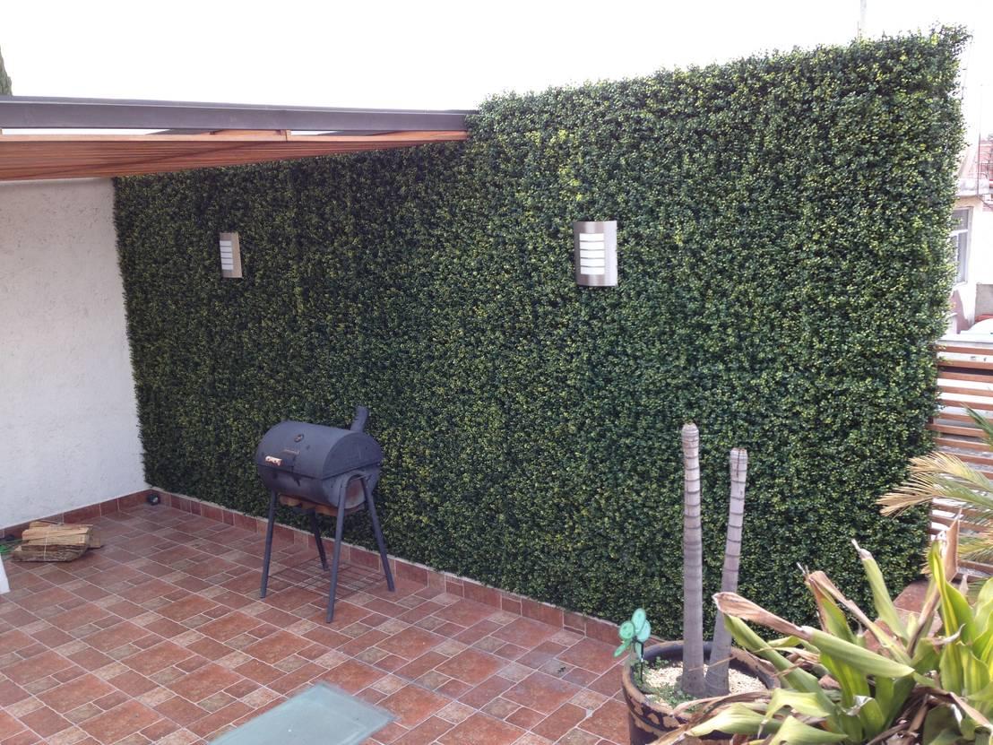 Muro verde sintetico de armatoste studio homify for Tela para muro verde