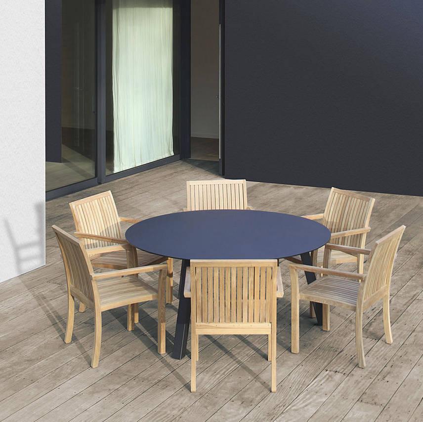 Mobiliario de jardines y exteriores by muebles caparros for Mobiliario para exteriores