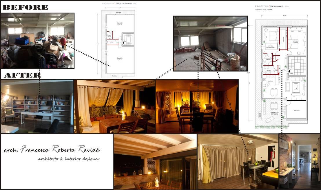 Da sottotetto ad abitazione privata por francesca ravid - Architetto interior designer ...
