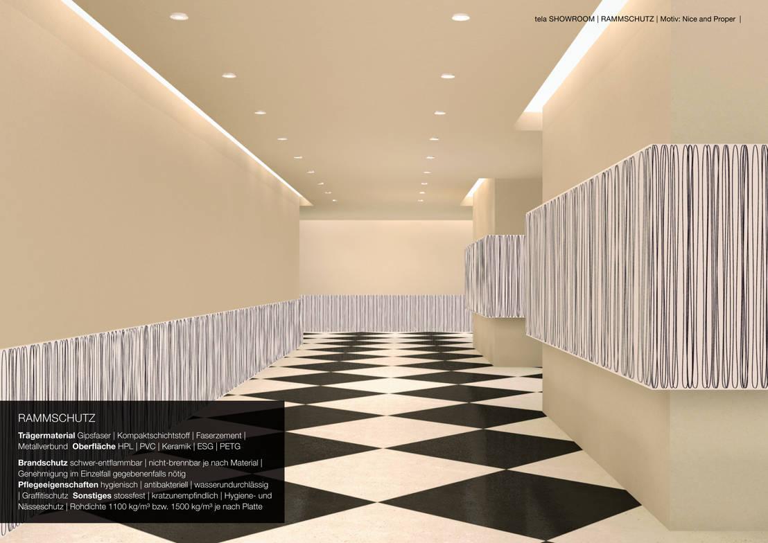 gestalteter kunststoff wandschutz und keramikrammschutz a2 von tela design homify. Black Bedroom Furniture Sets. Home Design Ideas