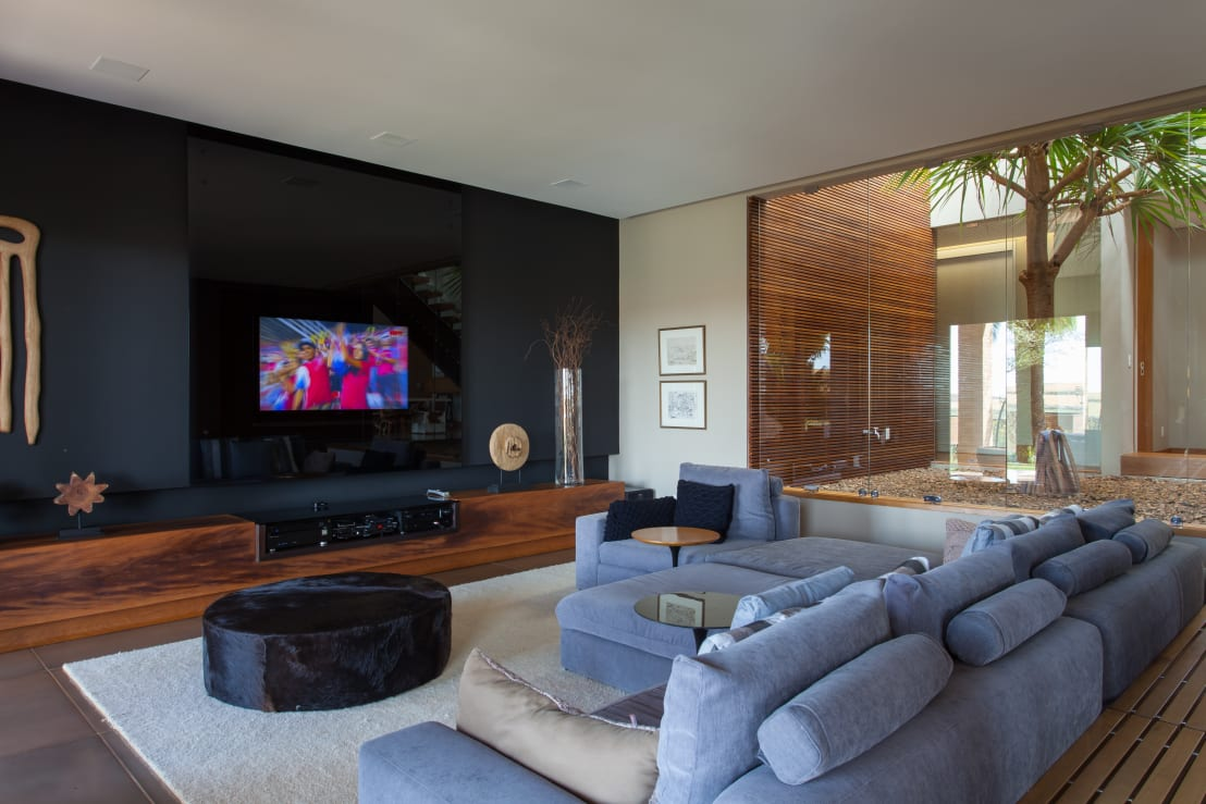 Tamanho Correto De Tv Para Sala ~ Salas de TV para sua casa
