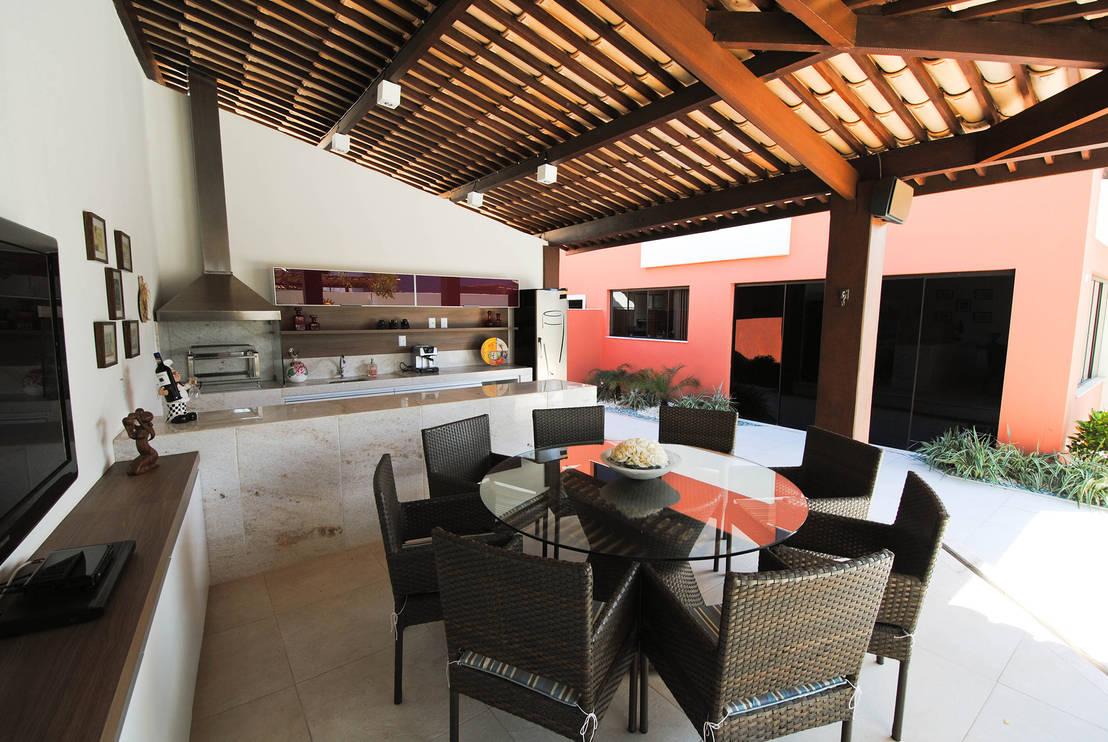 Patios techados con cocina y comedor for Cocinas para patios