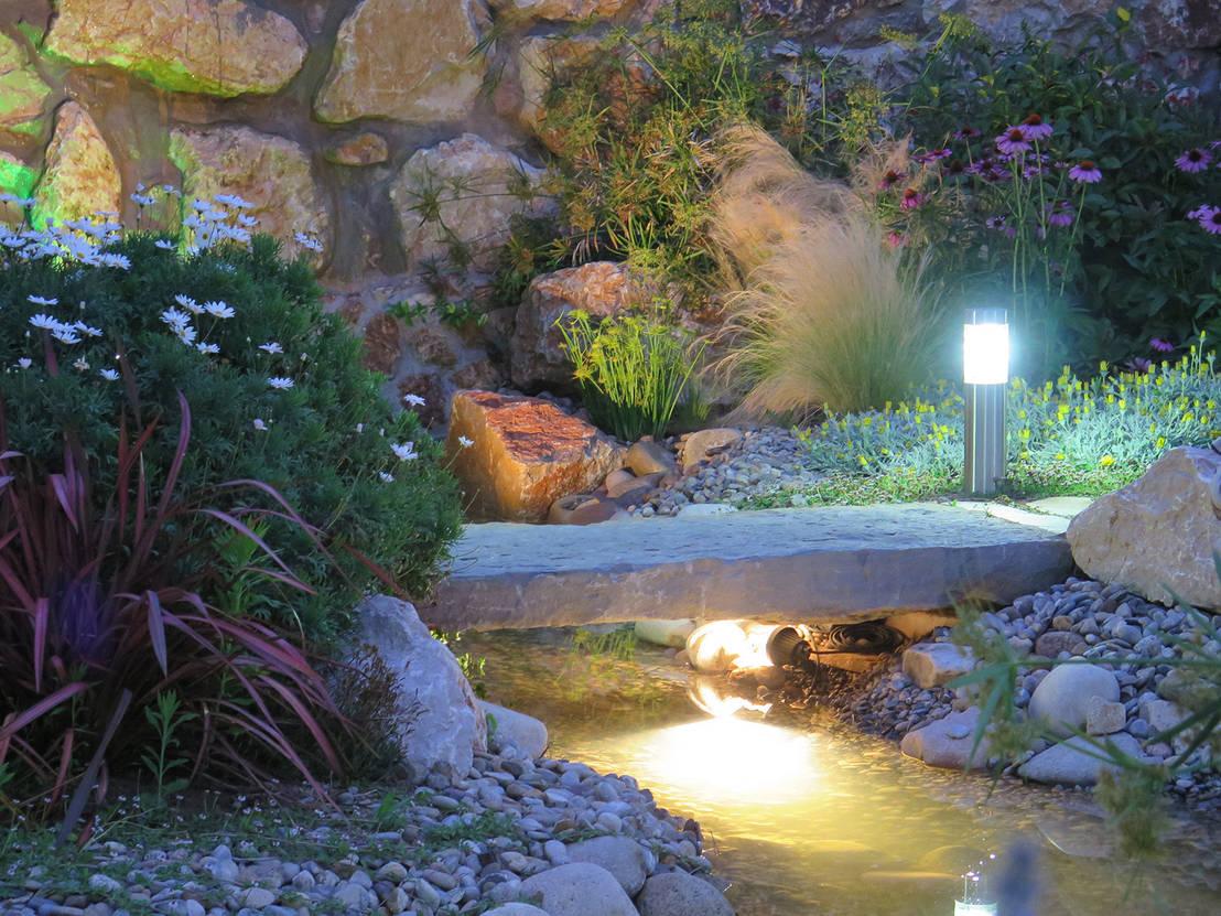 5 ideas para rocalla y decoraci n con piedras - Iluminacion de jardines modernos ...