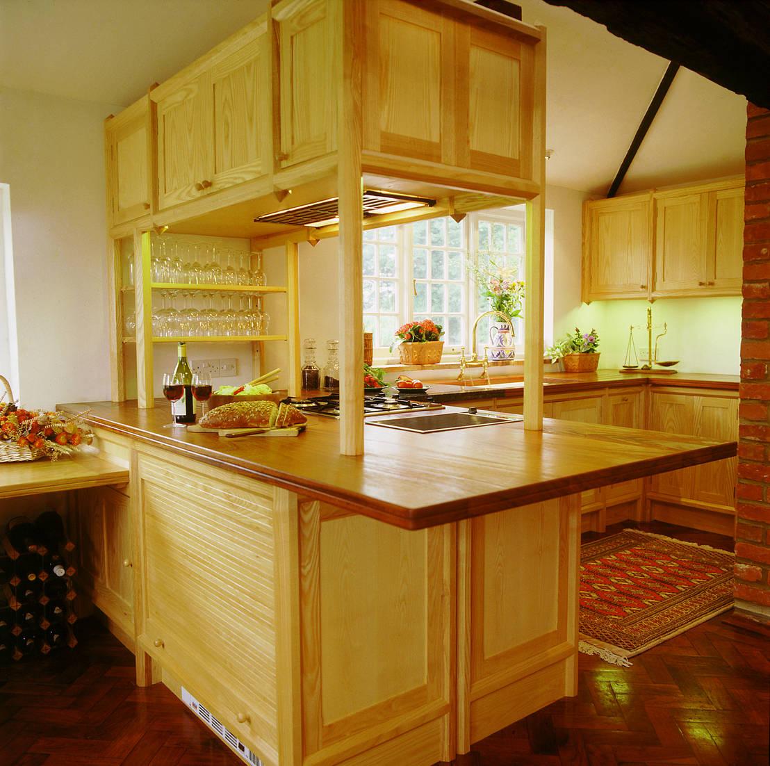 Maidenhead ash kitchen with an ocagonal framework designed for Kitchen 0 finance b q