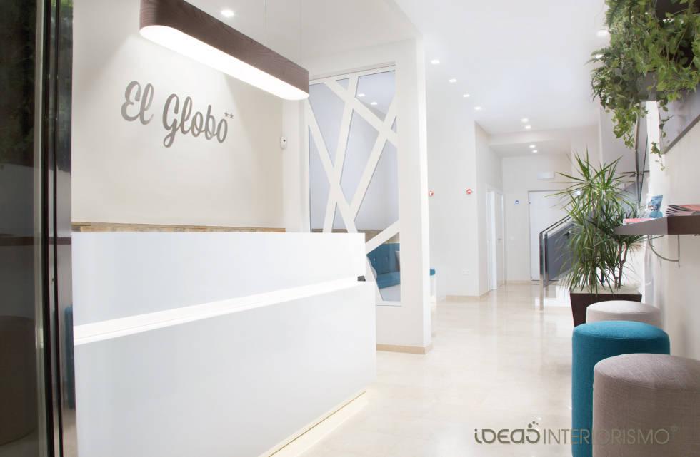 Hotel el globo decoraci n mediterr nea de ideas interiorismo exclusivo slu homify - Decoracion para hoteles ...