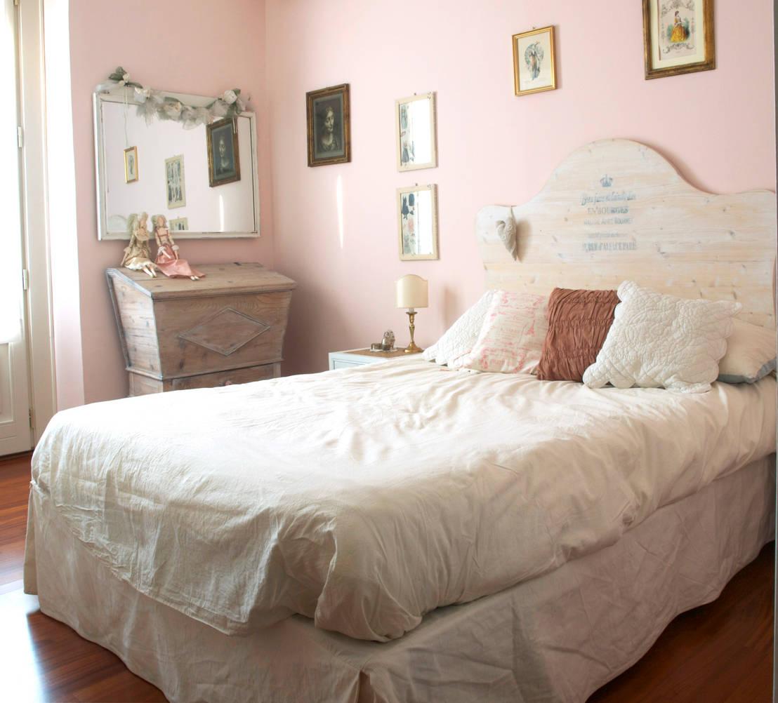 Home relooking in stile shabby chic di cinzia corbetta for Camera letto foto